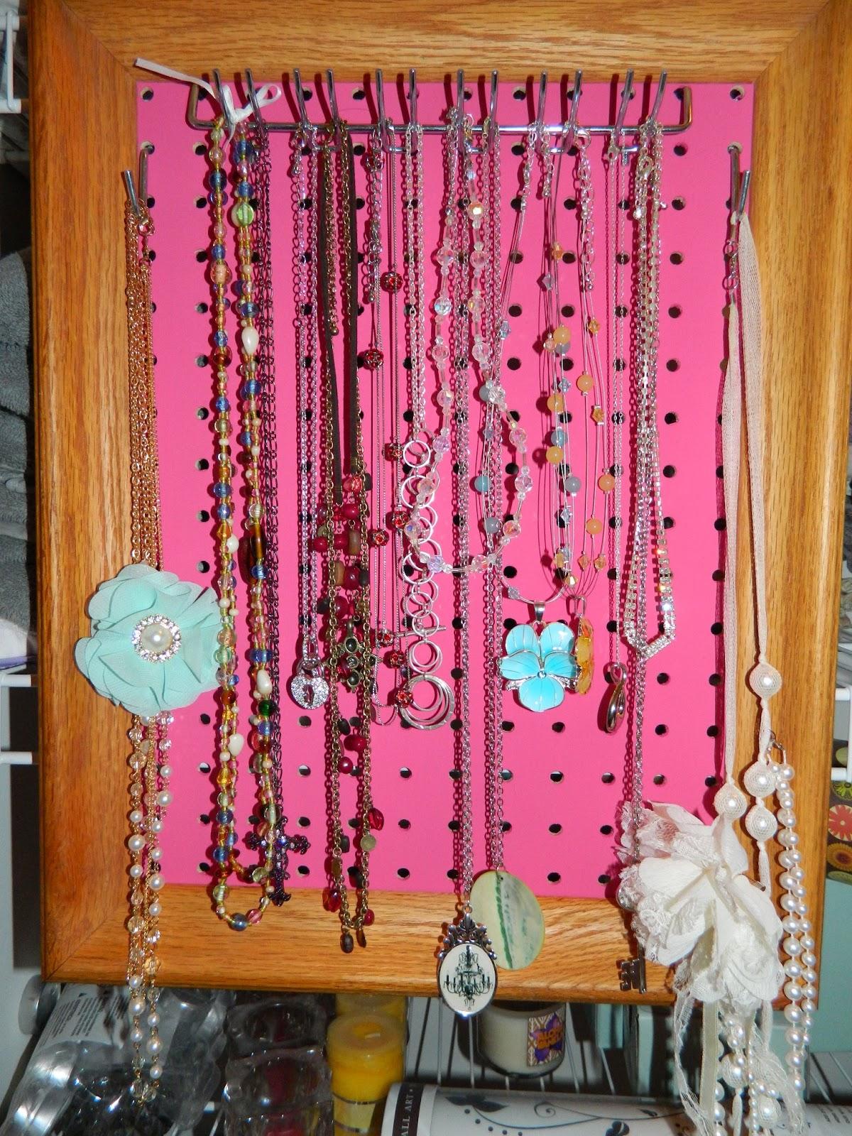 Pinterest 100 Ways - Tales & Fails: #6 Pegboard Jewelry Display