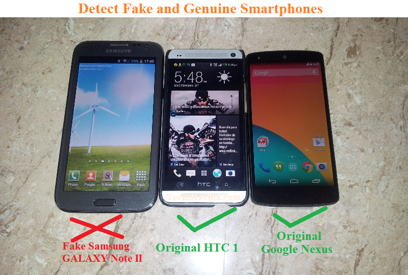How to find Fake iPhone, Samsung, Sony, HTC, Nexus smartphones?