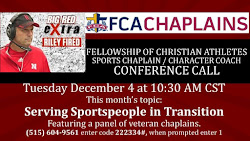 Sports Chaplain / Character Coach Conference Calls