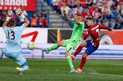 Hasil Pertandingan Atletico Madrid 2-0 Getafe 23 Sept 2015, Matchday 5