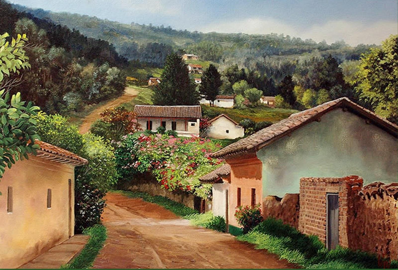 Im genes arte pinturas pinturas paisajes campesinos jos - Cuadros para pintar en casa ...