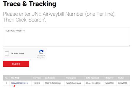 Cara Melacak Kiriman Barang Trace & Tracking JNE 2