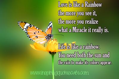 life is like a rainbow