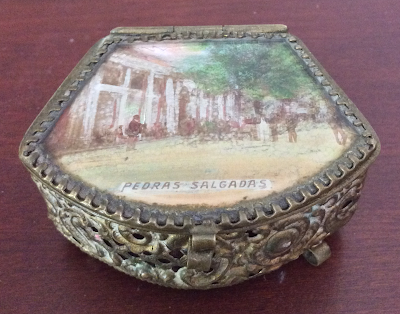 Victorian Jewellry Box with Souvenir Picture