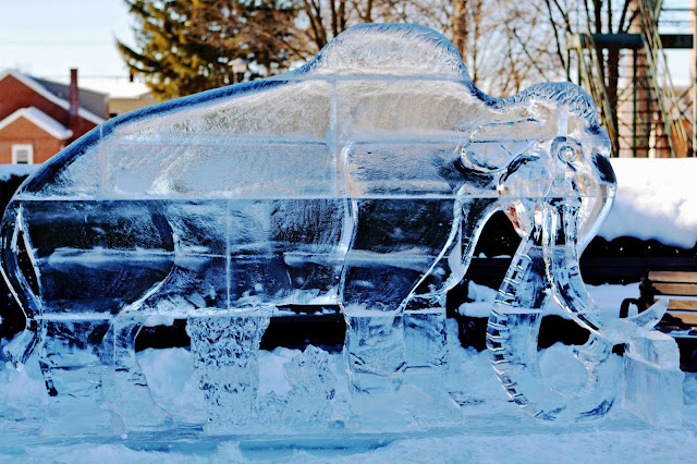Ice Carving Mammoth