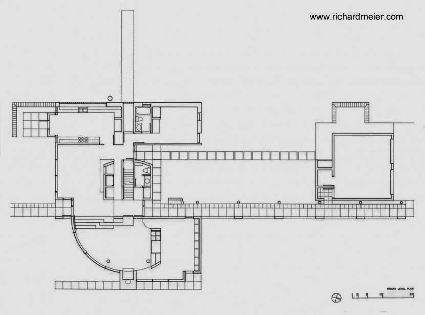 Plano de planta baja de Grotta House