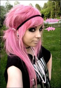 pink hairtsyles 2011