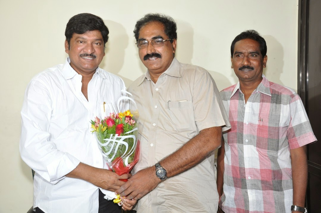 Maa President Rajendra Prasad Felicated by Tammineni and Others-HQ-Photo-7