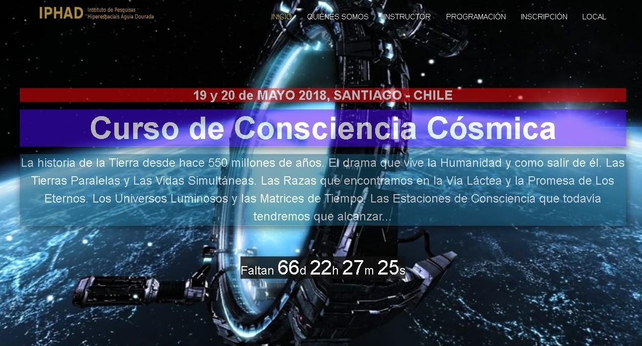 CONSCIÊNCIA CÓSMICA EM SANTIAGO DE CHILE