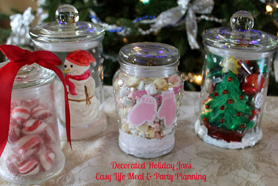 Decorated Holiday Jars - Easy Life Meal & Party Planning