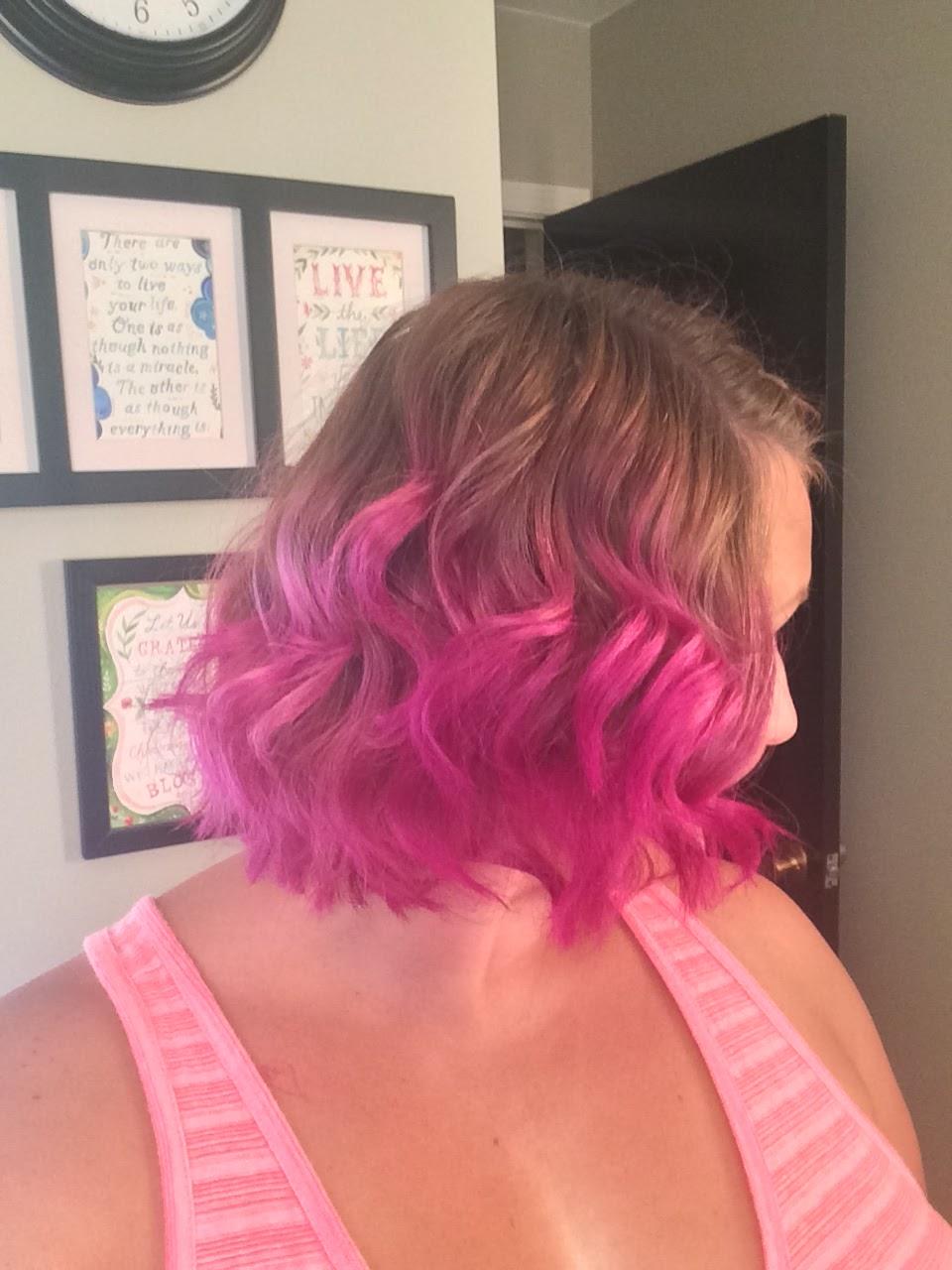 Lovely Dalliances Vibrant Pink Ombre For Short Hair