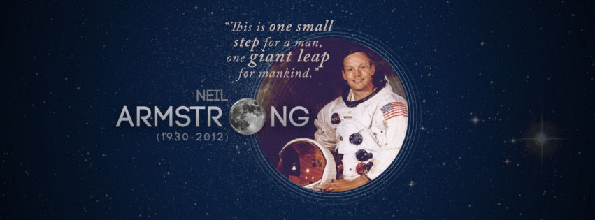 Quotes tribute to neil armstrong facebook cover