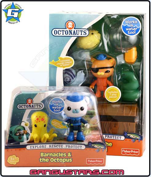 the Octonauts オクトノーツ Barnacles Kwazzi Fisher-Price toys キャプテン・バーナクルズ  クワジー