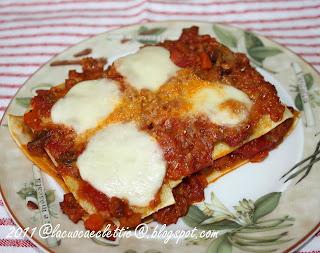 Lasagnette con salsiccia e scamorza