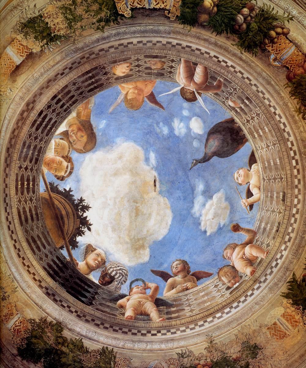 M s clases de arte mantegna c mara de los esposos for Design della camera degli ospiti
