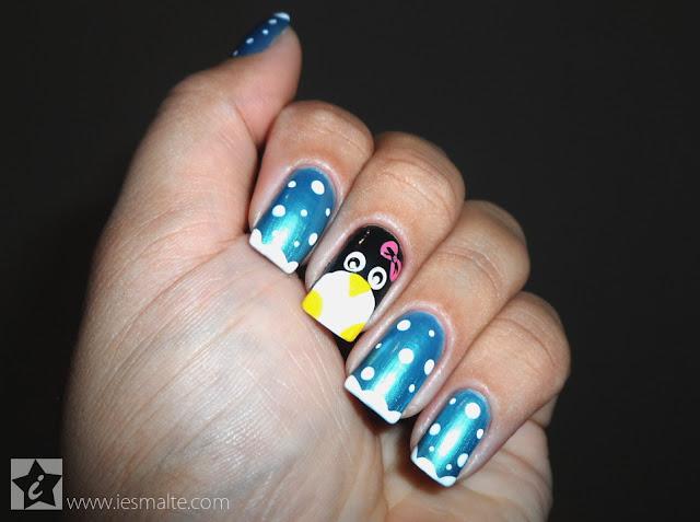 Unha Decorada - Pinguim
