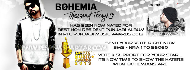vote for bohemia thousand thoughts online free the punjabi rapper