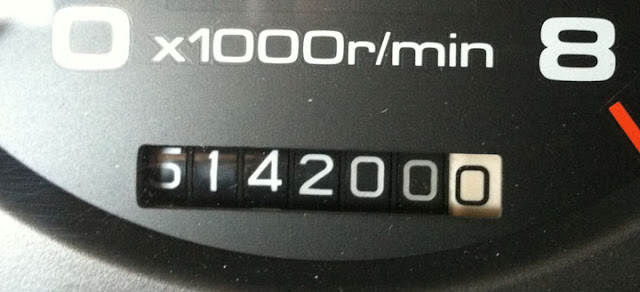 1994 Acura Legend odometer reading 514,200 miles