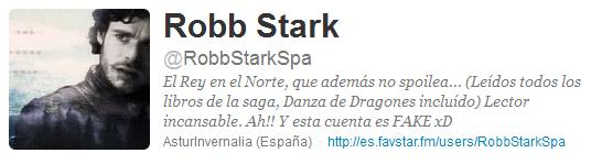 @RobbStarkSpa, Robb Stark en twitter