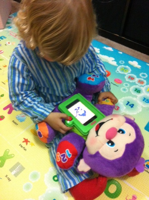 "Laugh & Learn Learning Letters Monkey App"" on the Apptivity™ Monkey, Christmas gift, Fisher Price Apptivity Monkey, iPhone Apps for kids, Free Apps for iPhone iPod touch,"