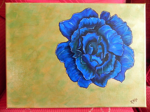 Blue Rose by Ruth Kelly, www.ruths-world.com