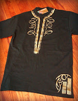 Harar Coronation Dashiki Metallic Tee
