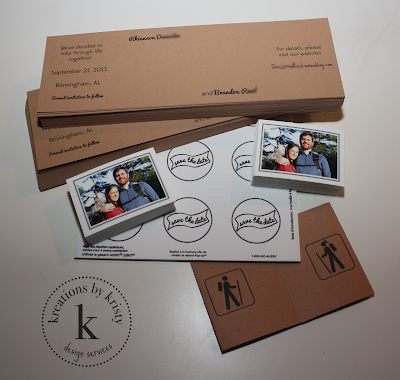 wedding save the date | kreations by kristy