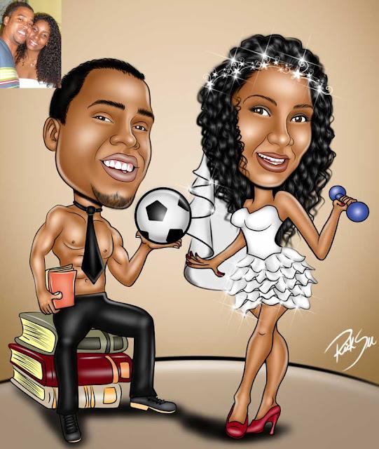 noivo com livros e bola de futebol