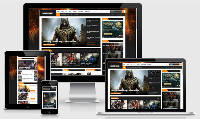 PowerGame Blogger Template by ThemeXpose