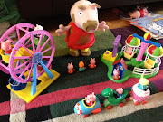 The Peppa Pig Theme Park Toys waiting to be played with once the guests had . (photo )