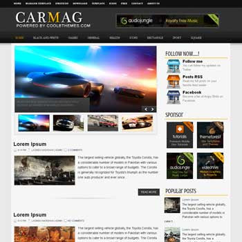 CarMag blogger template. template blogspot free