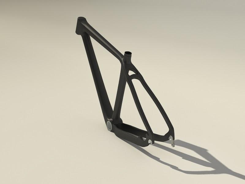 cadre de vélo 3d X vue arrière