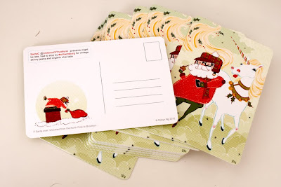 holiday postcards with santa, printed at GotPrint
