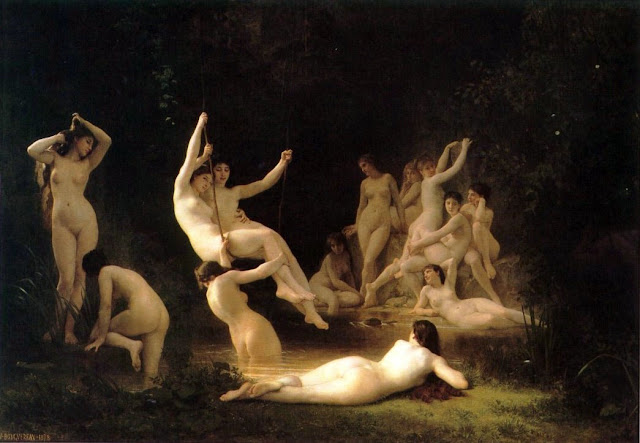 nymph,art history, Bouguereau