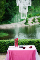 Table with elements for the wedding ceremony - Patricia Stimac, Seattle Wedding Officiant