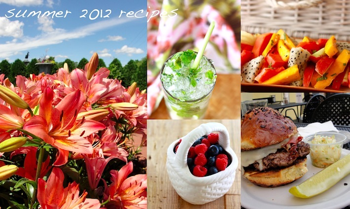 Summer recipe ideas for 2012