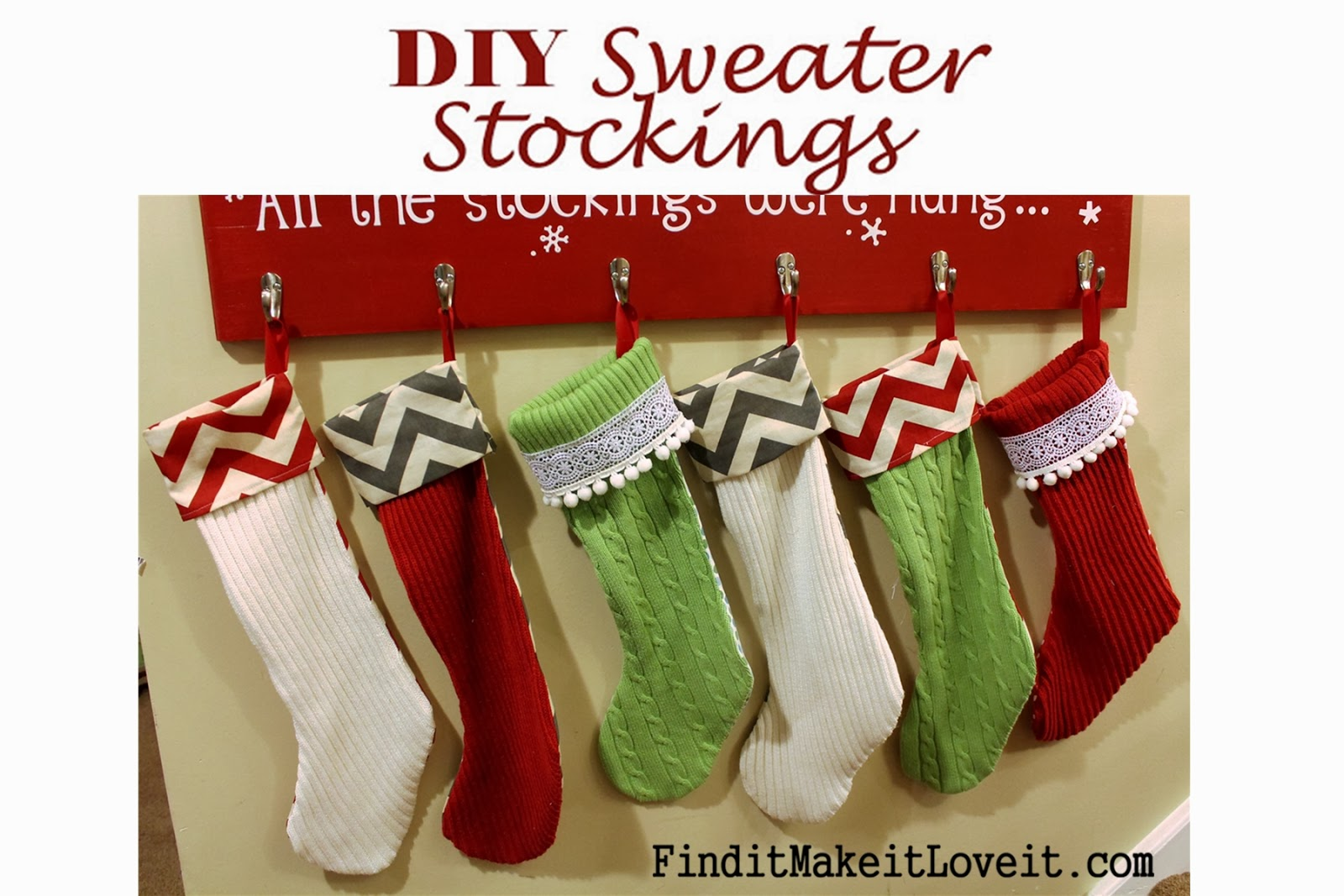 diy stockings from thrift store sweaters - Sweater Christmas Stockings