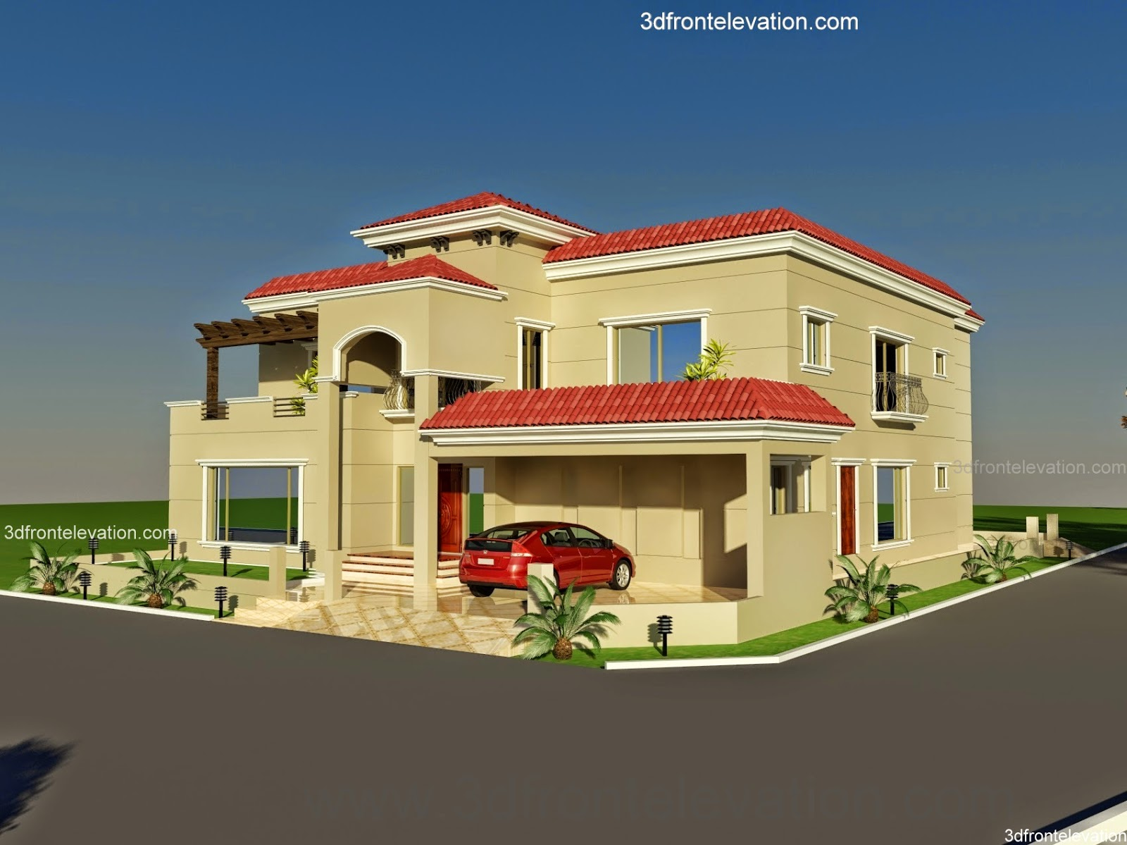 Front Elevation Of House In Punjab : D front elevation  wapda town kanal