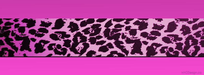 Pink cheetah print facebook cover