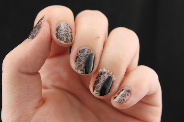 Born Pretty Store Stamping Plate Review Featuring Sexy Black Lace