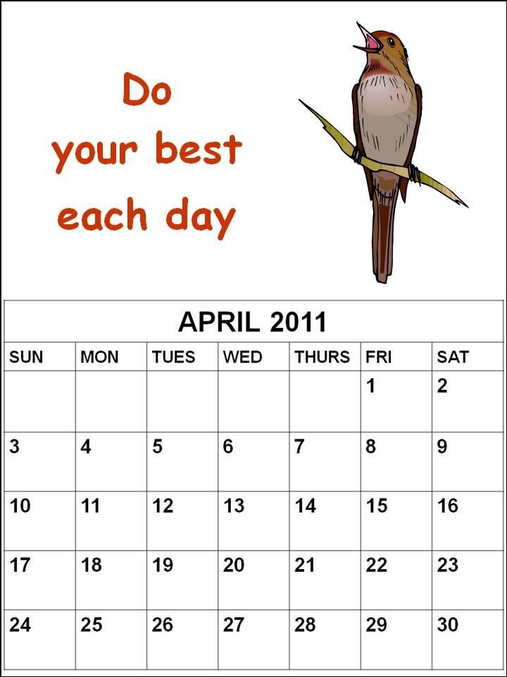 2011 april calendars. girlfriend 2011 april calendar