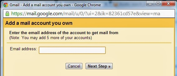 gmail pop3 screenshot