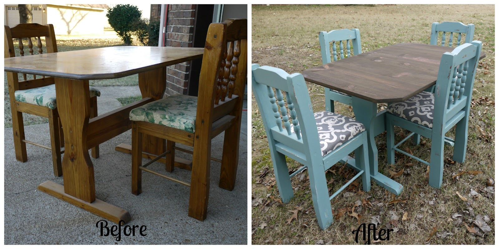 Garbage to glam how to refinish a kitchen table - Refinishing a kitchen table ...