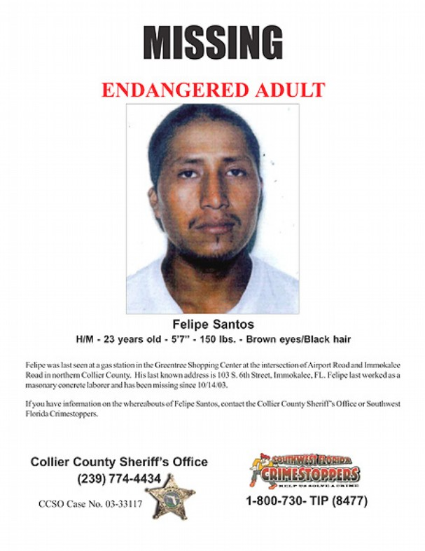 Savive 39 s corner two men last seen with collier county for Steve calkins