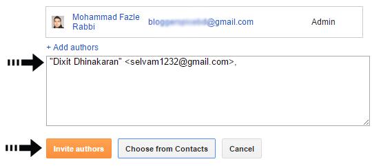 write author email