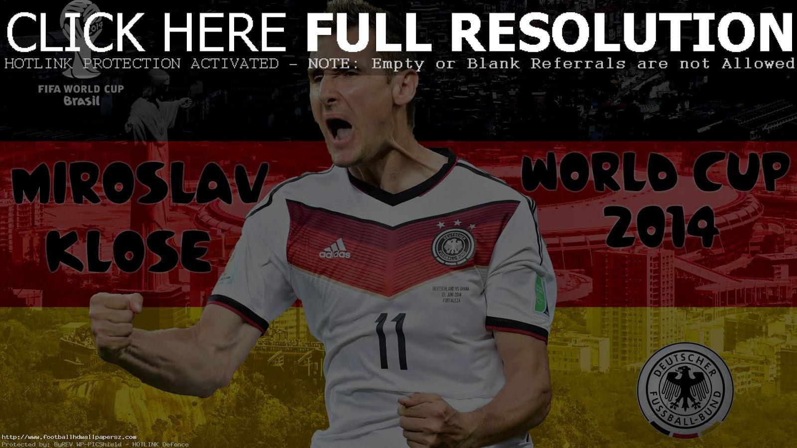 HD Miroslav Klose 2014 World Cup Germany Wallpaper