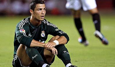 Cristiano Ronaldo with green Real Madrid shirt