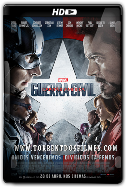 Capitão América: Guerra Civil (2016) Torrent – Dublado HDRip | 720p | 1080p Dual Áudio