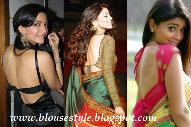 ACTRESS BACK NECK SAREE BLOUSE