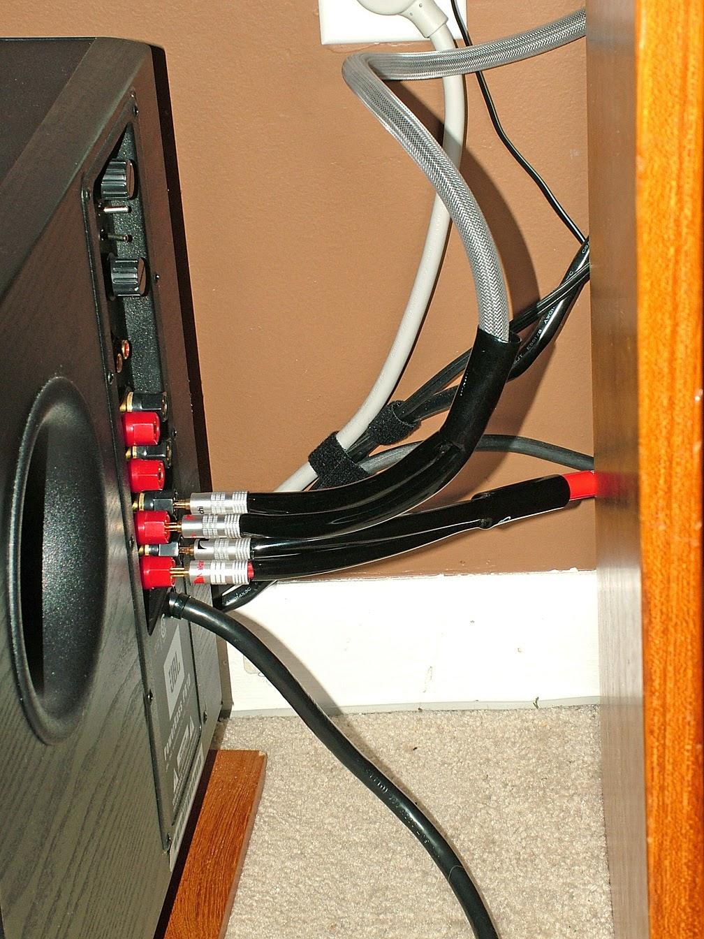 Wire For Speaker Systems : New polk speakers jbl subwoofer and wiring tweaks